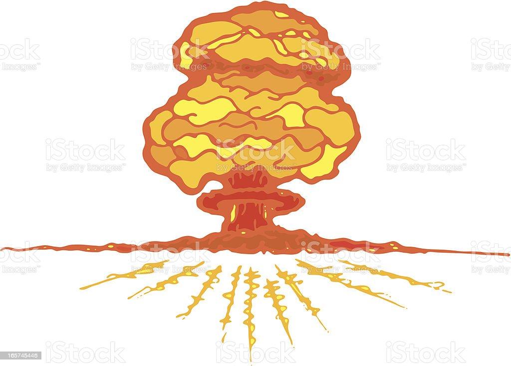 Mushroom Cloud vector art illustration
