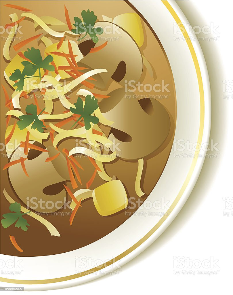 Mushroom soup royalty-free stock vector art