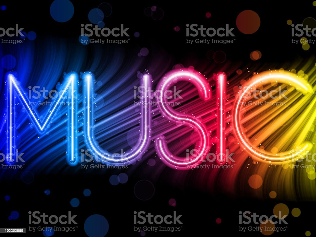 Music Abstract Colorful Waves on Neon Background royalty-free stock vector art