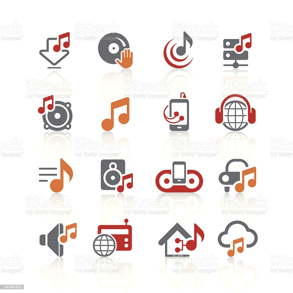 Music and audio icons | alto series vector art illustration