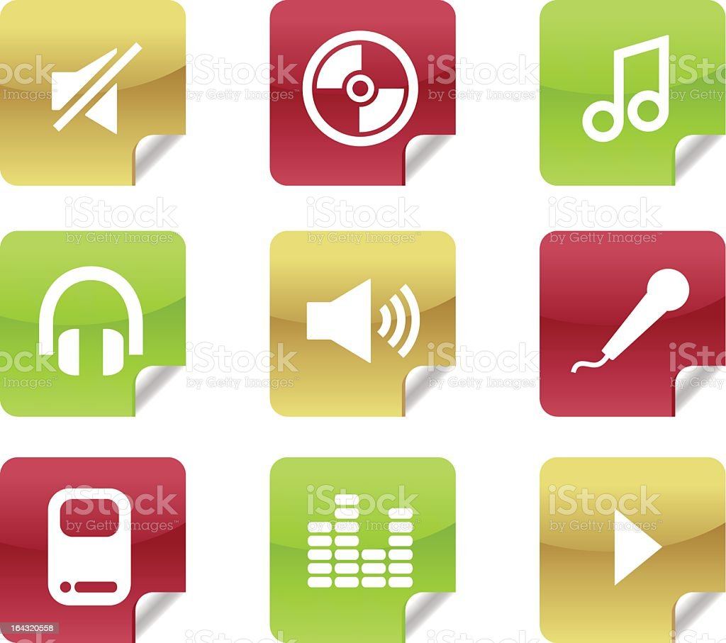 Music and Audio Icons for Website / Blog royalty-free stock vector art