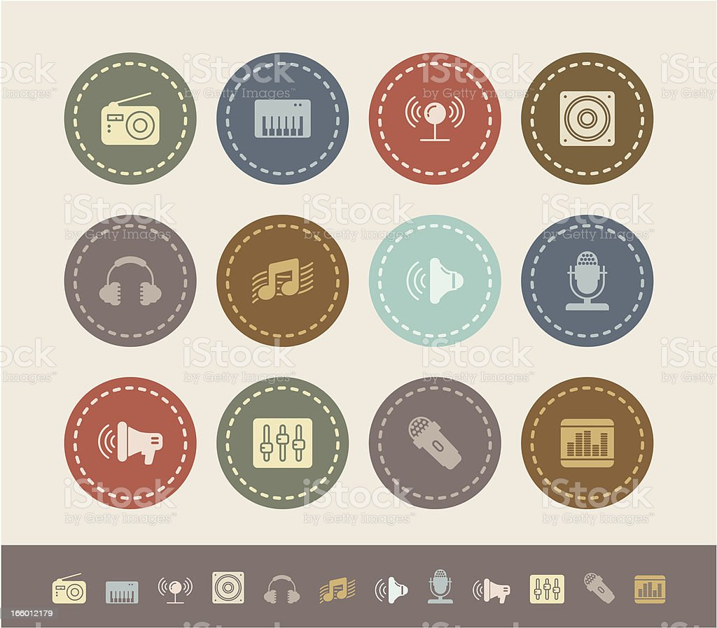 music and sound icons royalty-free stock vector art