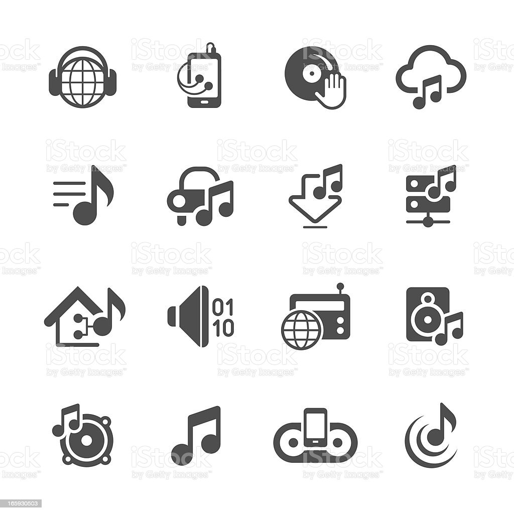 Music & Audio icons | prime series vector art illustration