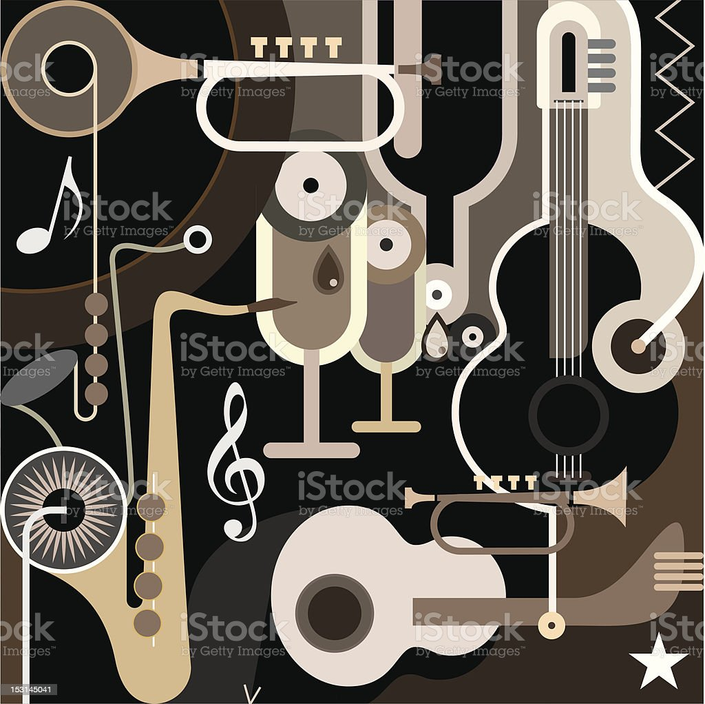 Music Background - abstract vector illustration royalty-free stock vector art