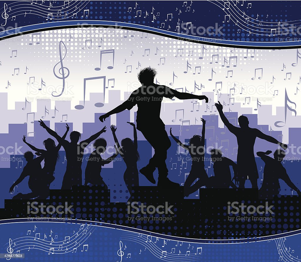 Music background party royalty-free stock vector art
