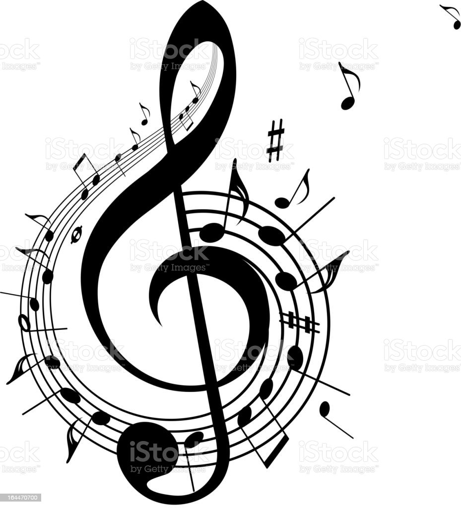Music Background. vector art illustration