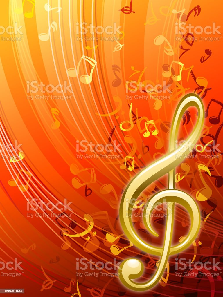 Music Background vector art illustration