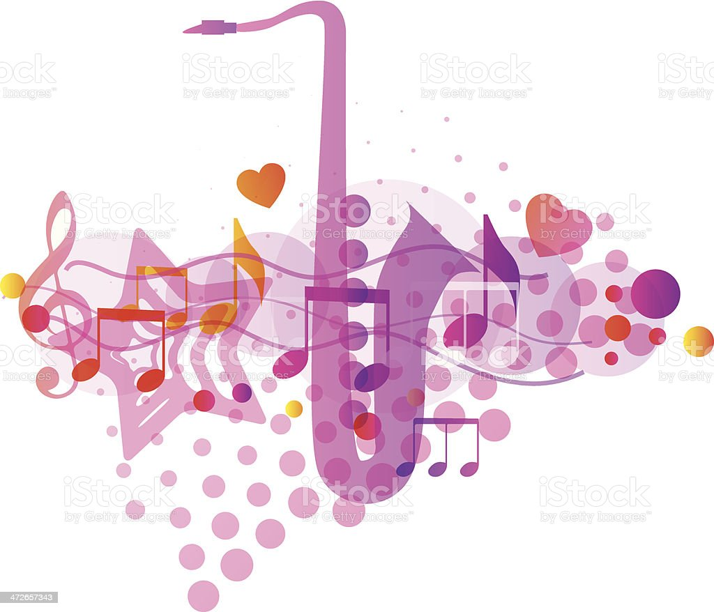 Music Background. Vector illustration royalty-free stock vector art