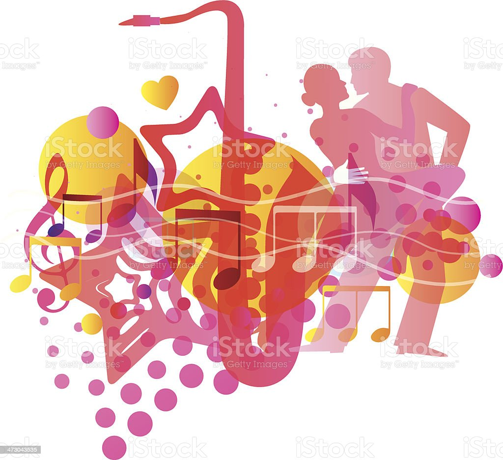 Music Background. Vector illustration royalty-free stock vector art