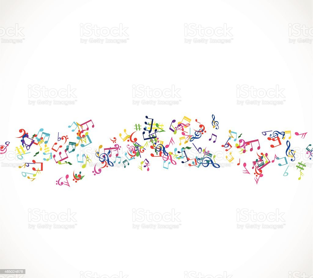Music background with notes  vector illustration vector art illustration