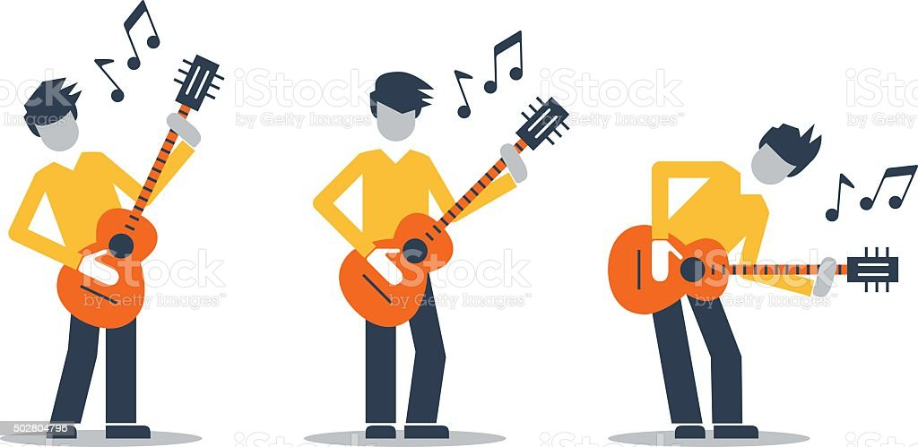 Music band performance vector art illustration