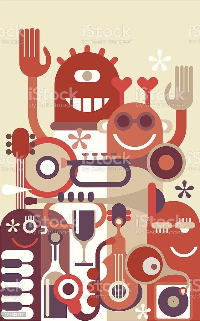 Music Band vector illustration royalty-free stock vector art