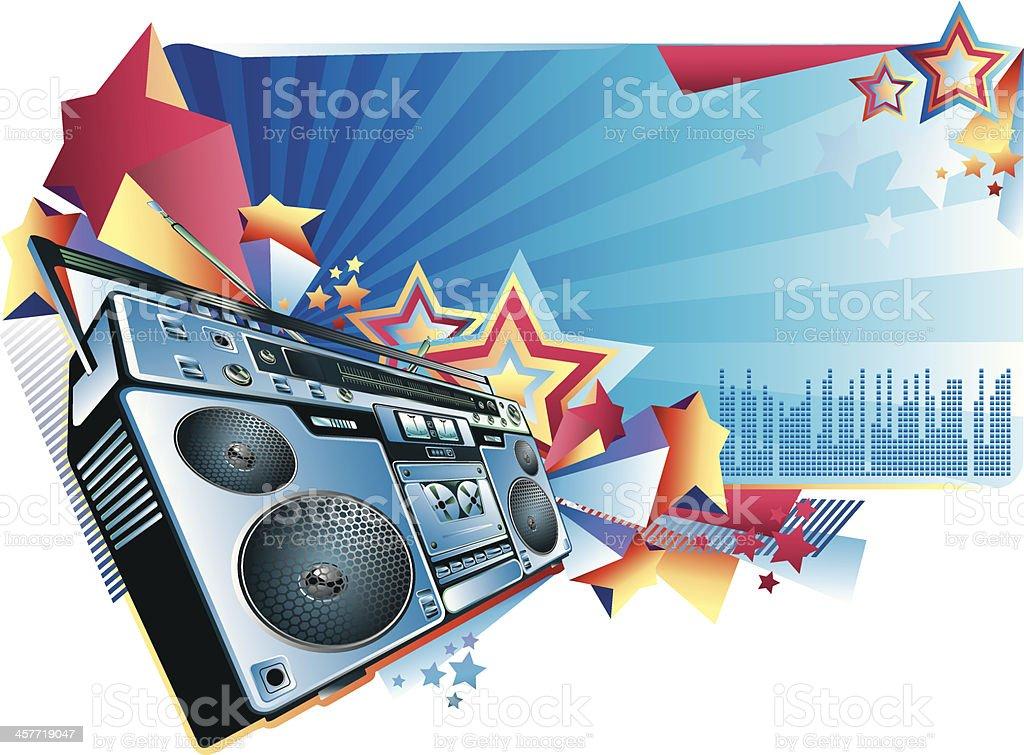 Music banner vector art illustration