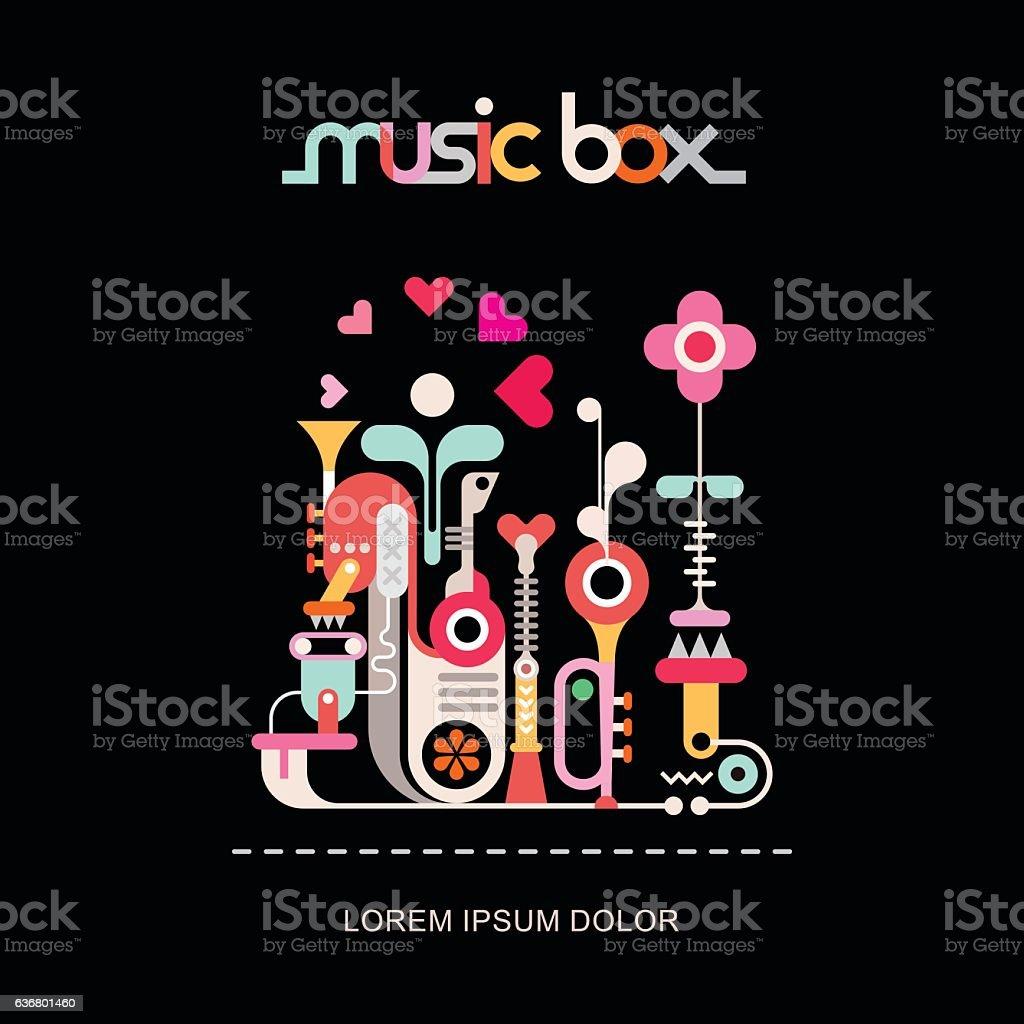 Music Box vector art illustration