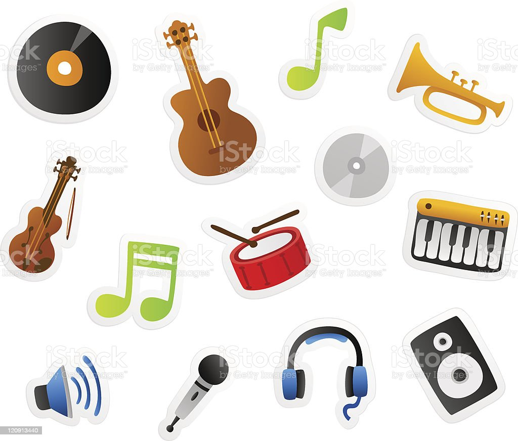 music cartoons royalty-free stock vector art