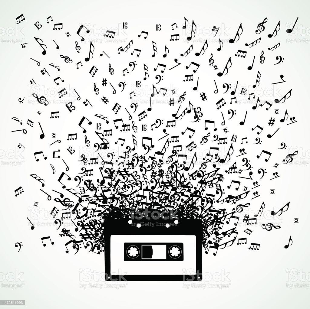 Music cassette royalty-free stock vector art