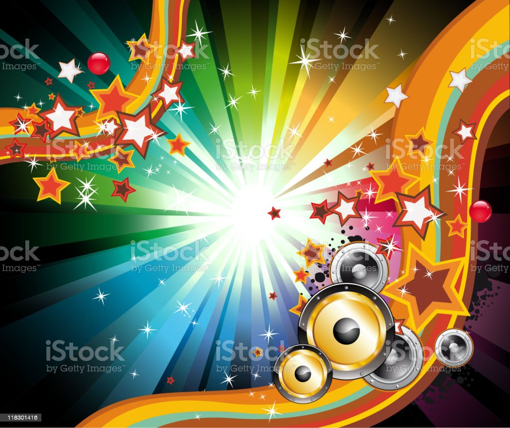 Music Colorful Background for Flyers royalty-free stock vector art