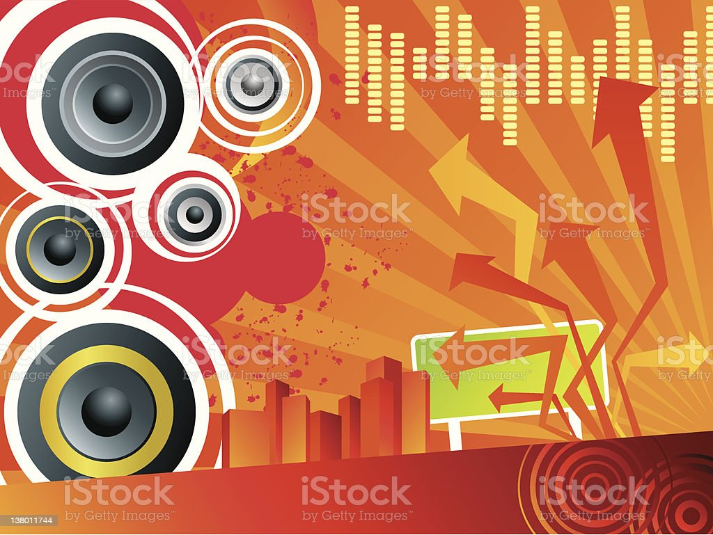 Music Design Background royalty-free stock vector art