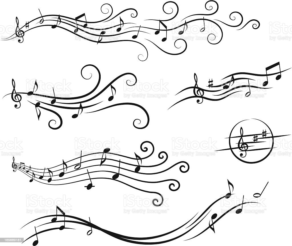 Music design elements royalty-free stock vector art