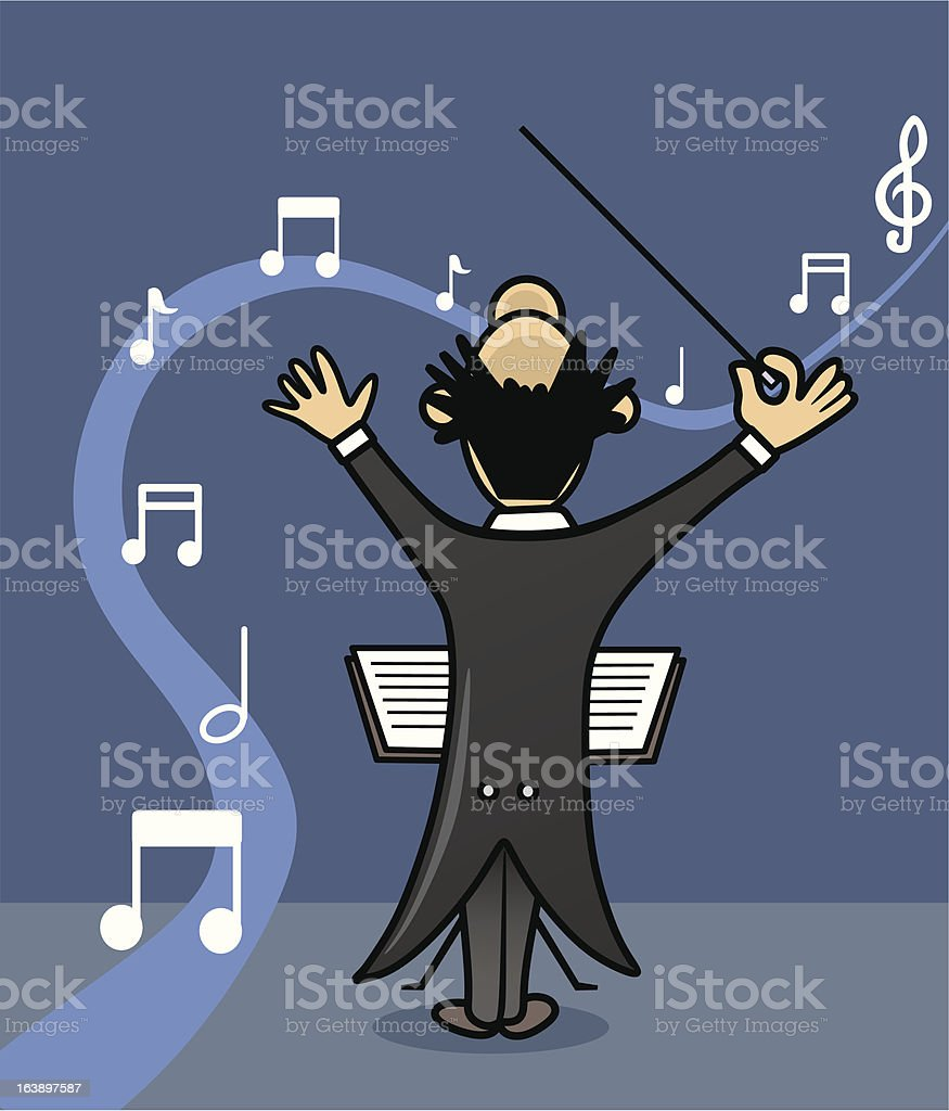 music director vector art illustration