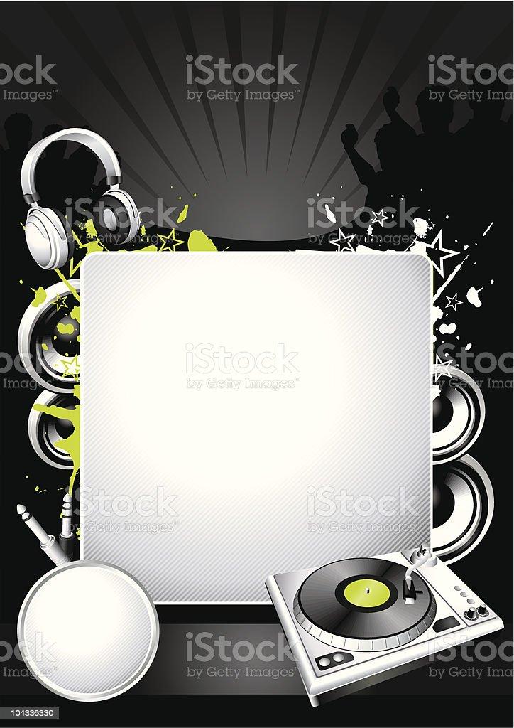 Music DJ template royalty-free stock vector art