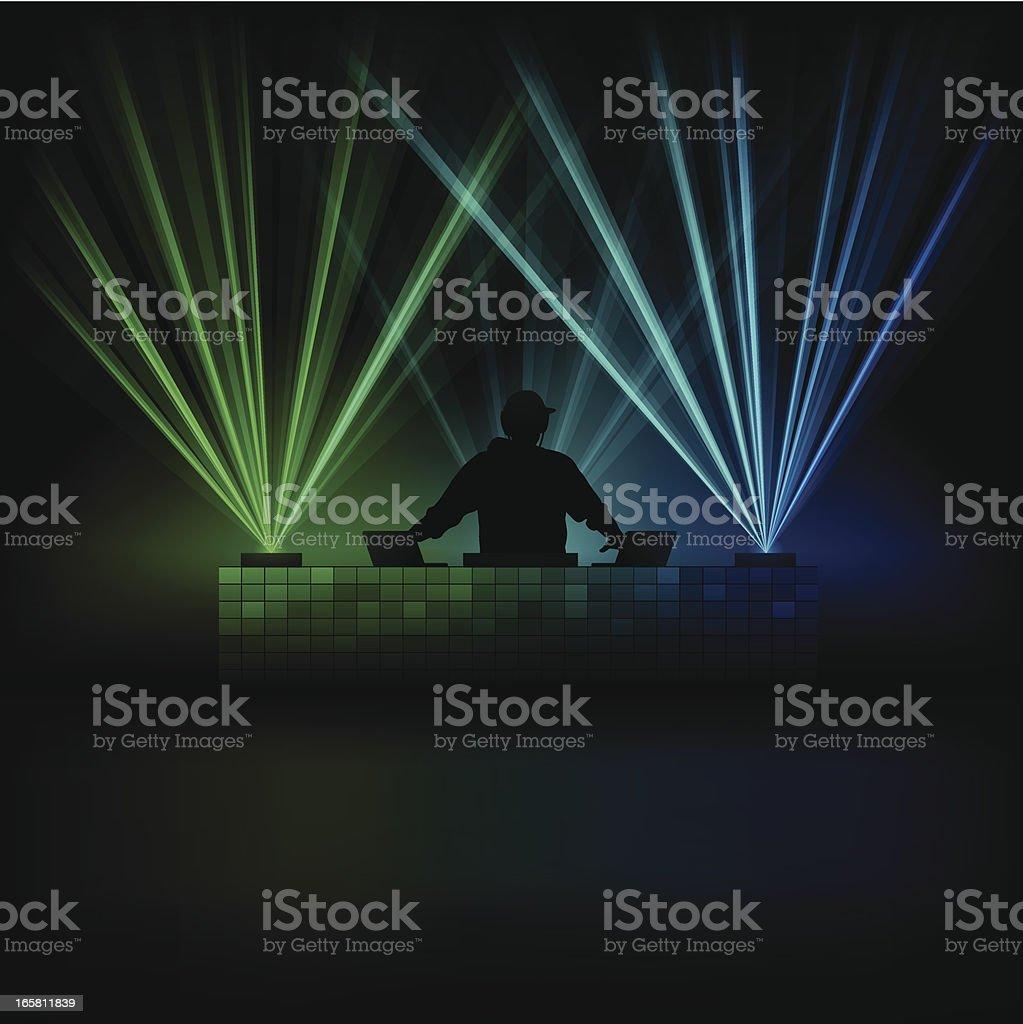 Music DJ vector art illustration