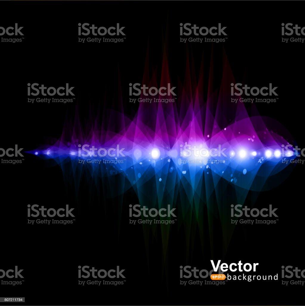 Music equalizer, 3d version waves vector art illustration