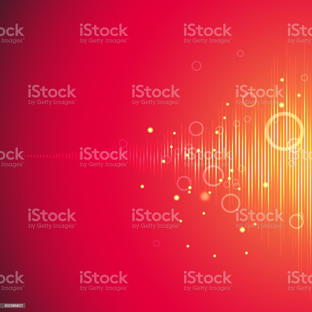 Music equalizer for a party vector art illustration
