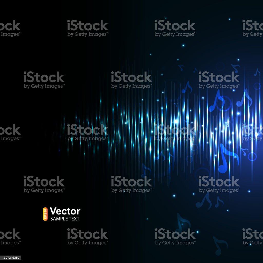 Music equalizer vector art illustration