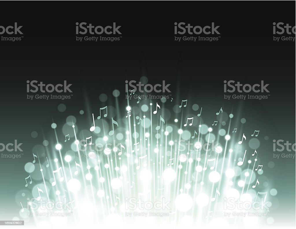 Music explosion background vector art illustration