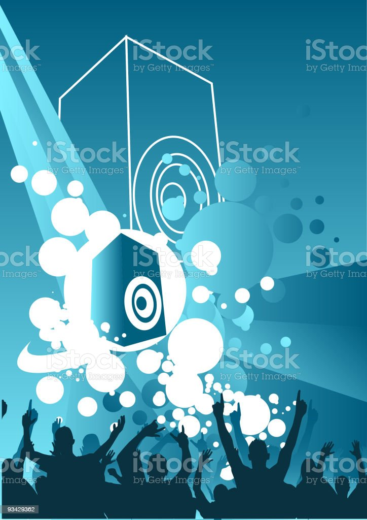 Music Explosion royalty-free stock vector art