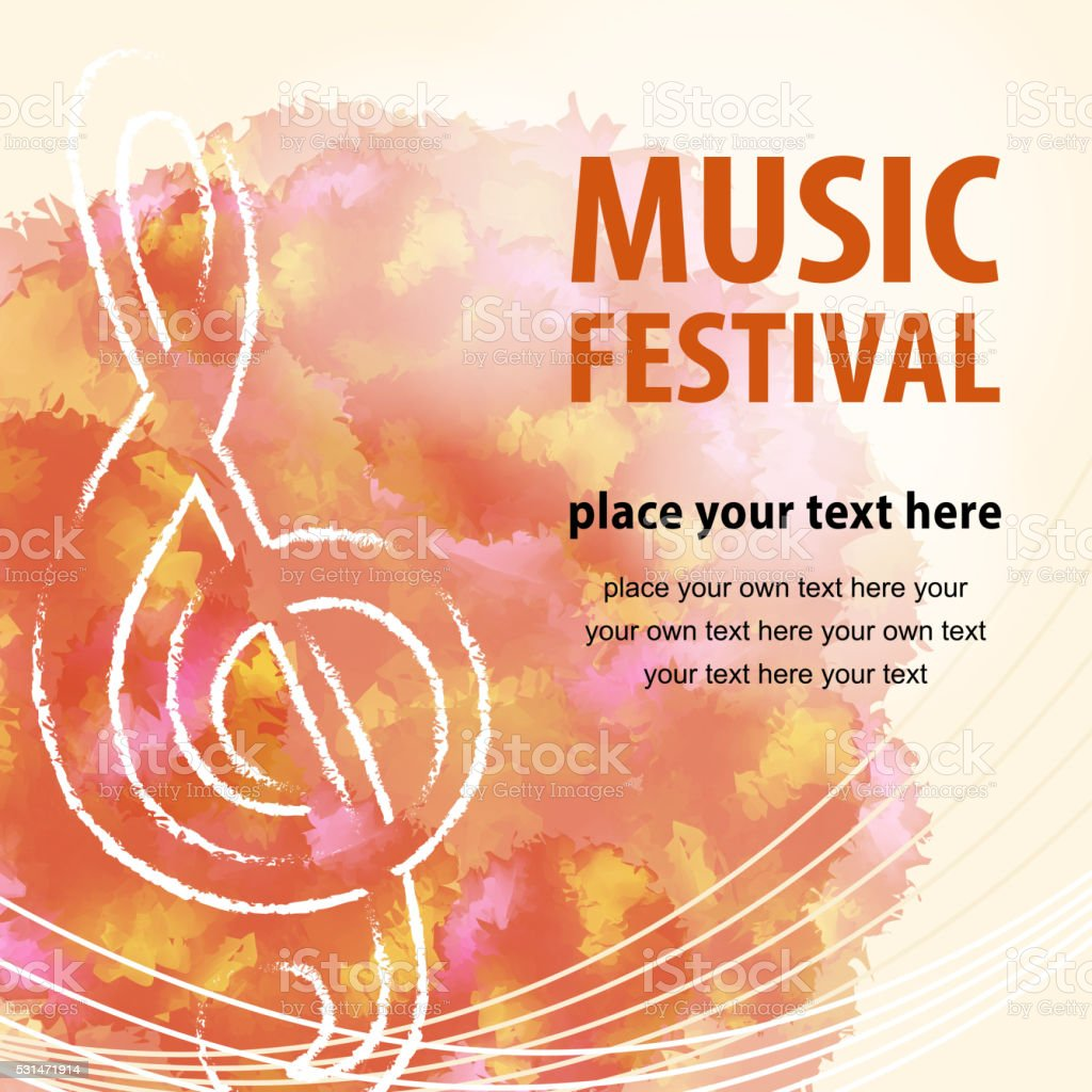 Music Festival Poster vector art illustration
