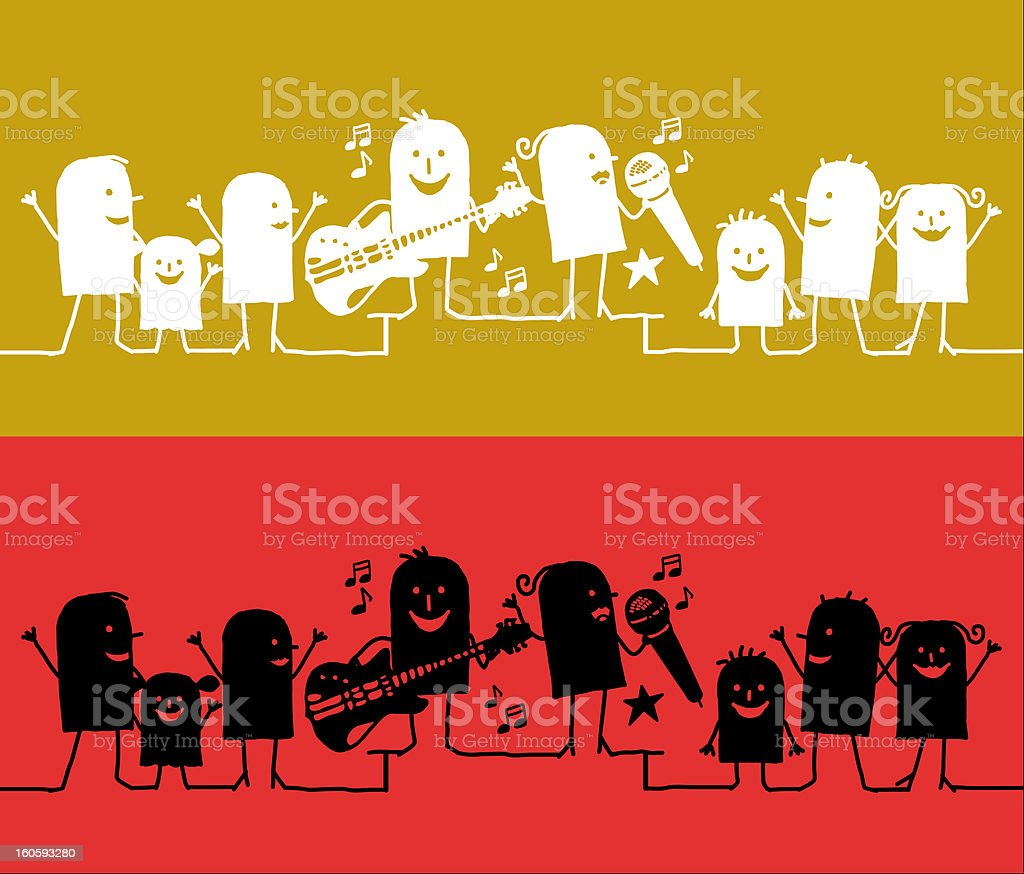 music festival royalty-free stock vector art
