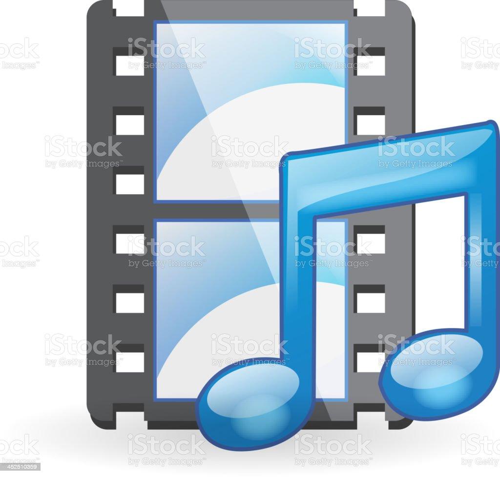 Music File royalty-free stock vector art