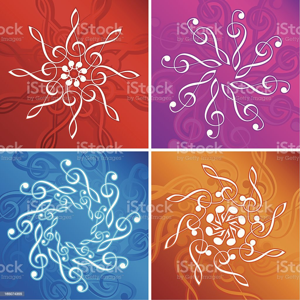 Music flakes royalty-free stock vector art