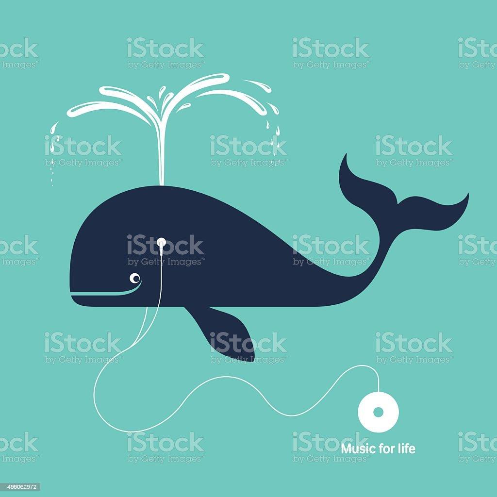 Music for life vector art illustration