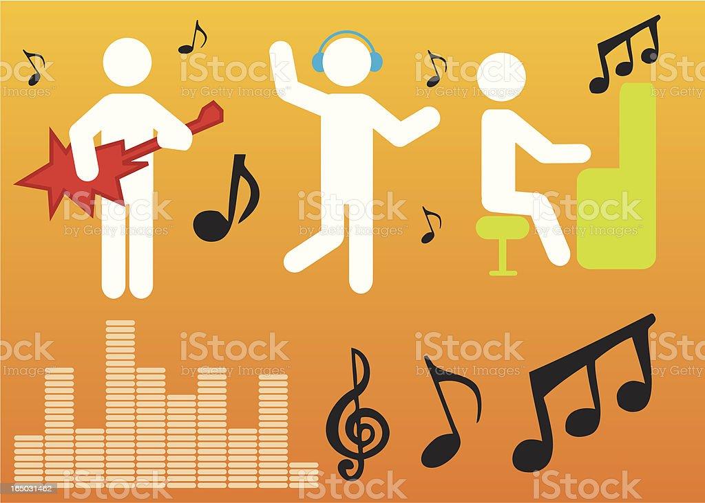 Music Guys royalty-free stock vector art