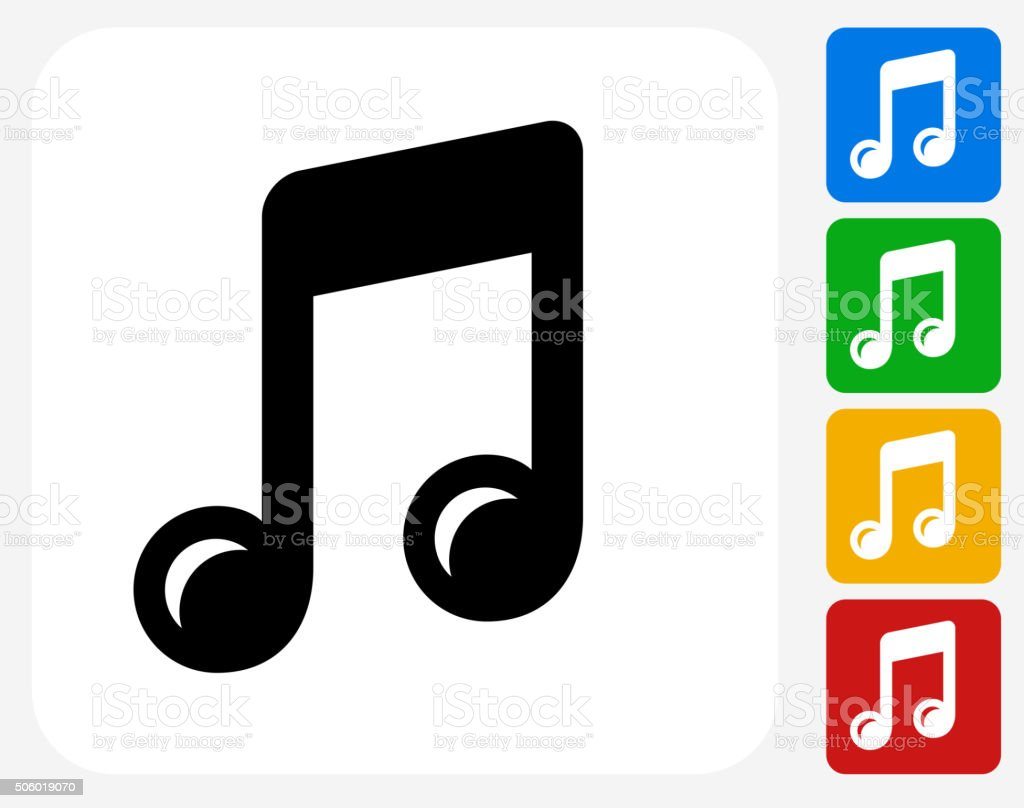 Music Icon Flat Graphic Design vector art illustration