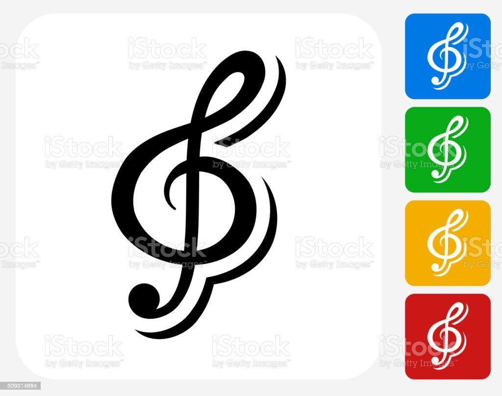 Music Icon Flat Graphic Design vector art illustration