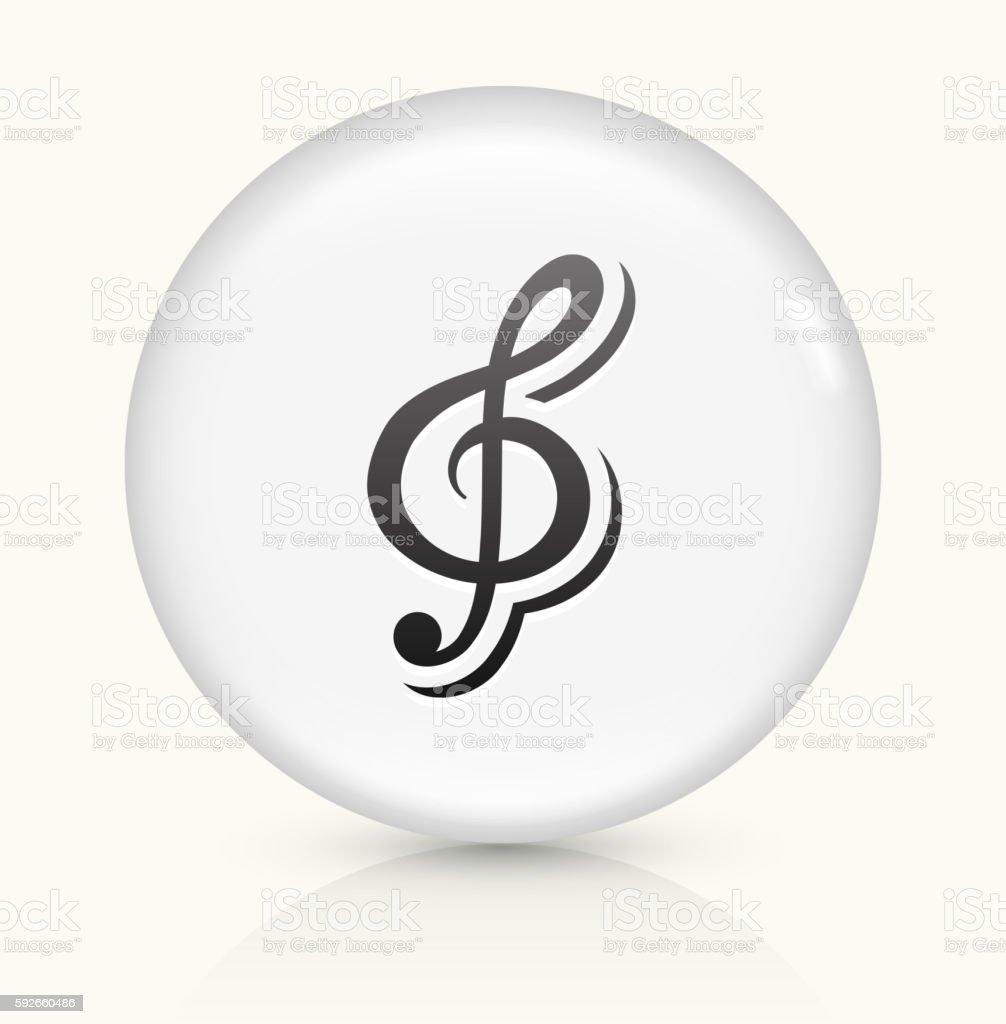 Music icon on white round vector button vector art illustration