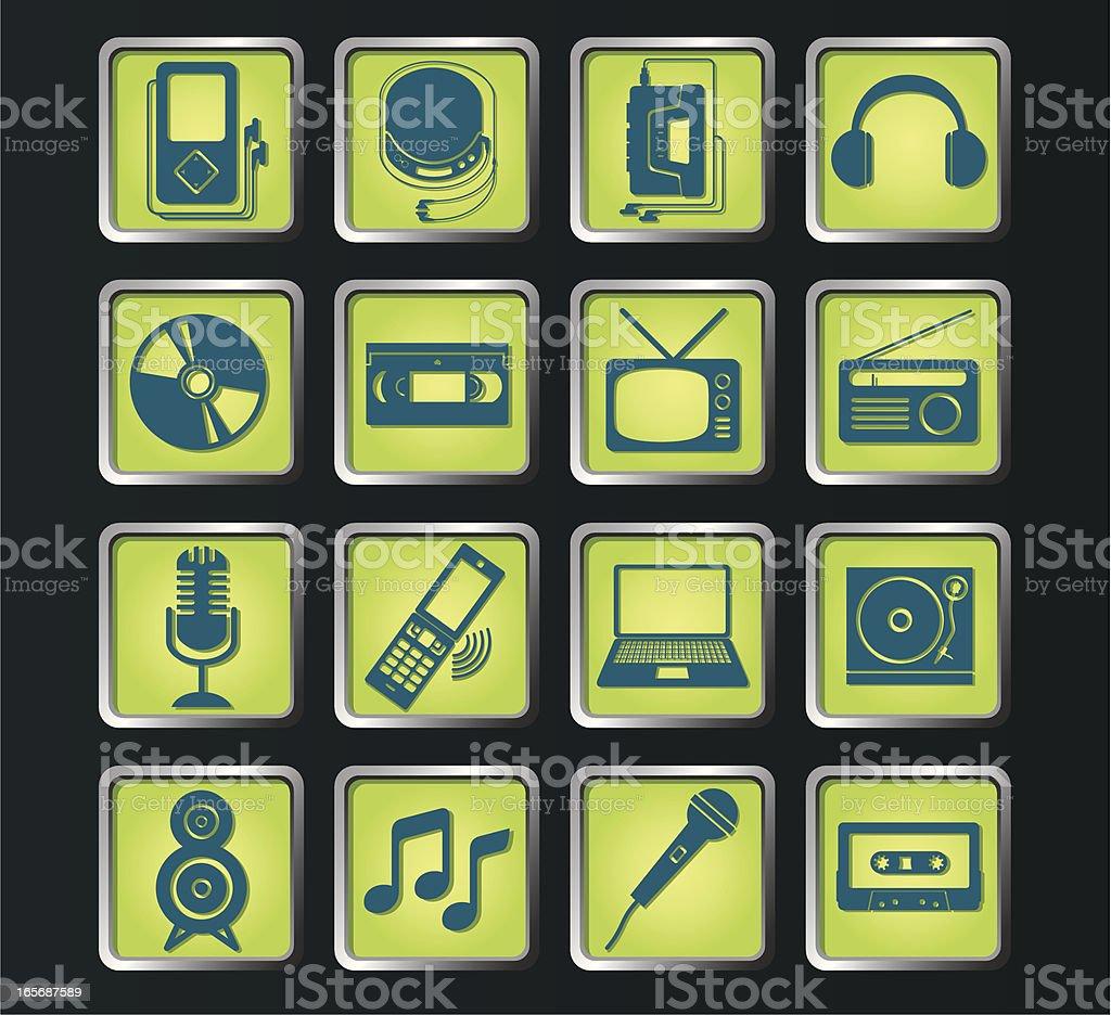 Music Icon vector art illustration