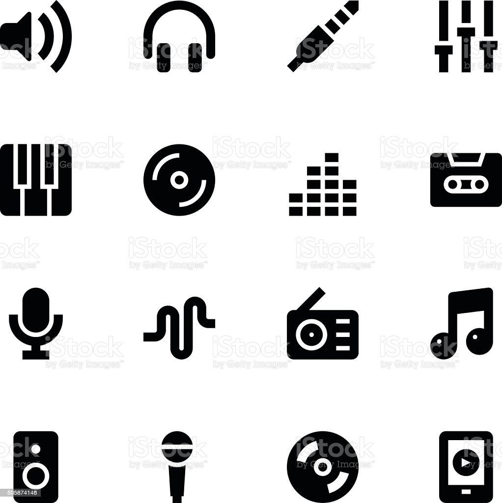 Music icons - Medium vector art illustration