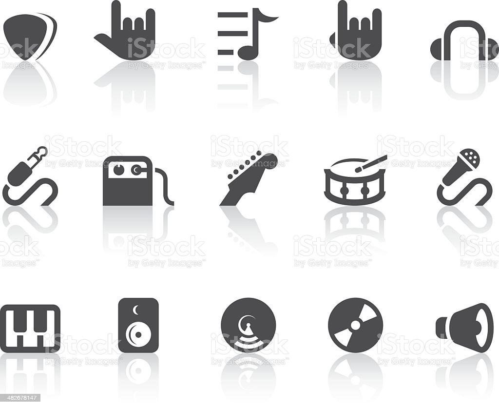 Music Icons   Simple Black Series vector art illustration