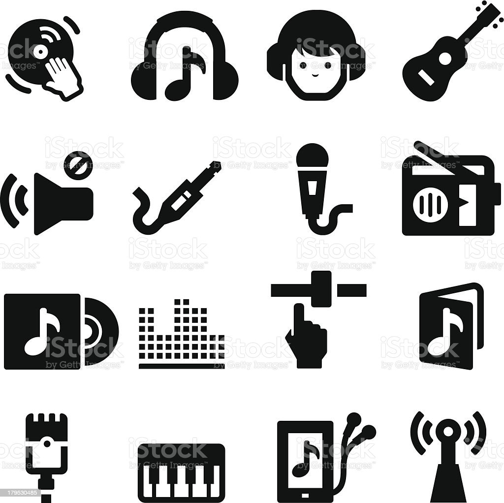 Music Icons two royalty-free stock vector art
