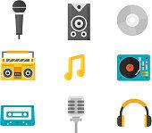 Music icons vector illustration