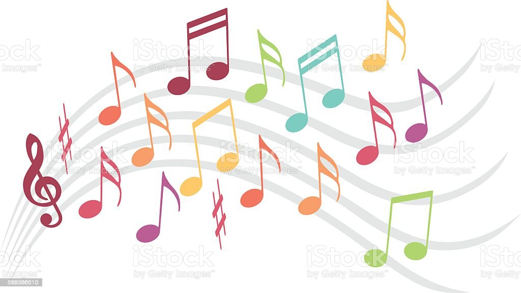 Music illustration vector art illustration