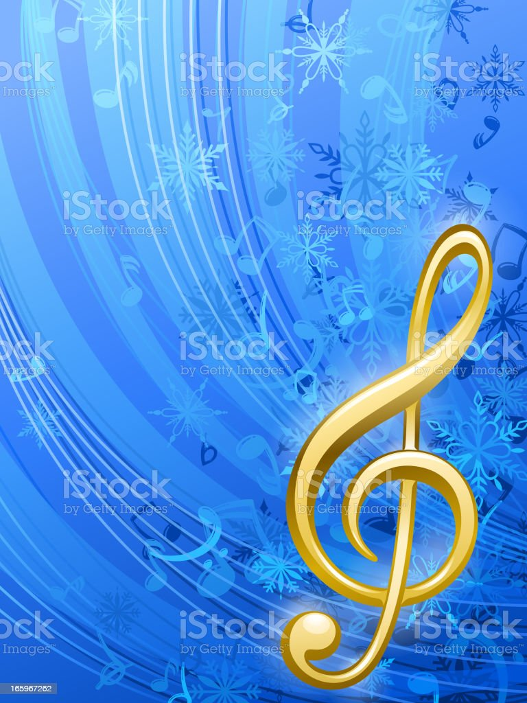 Music in Winter vector art illustration