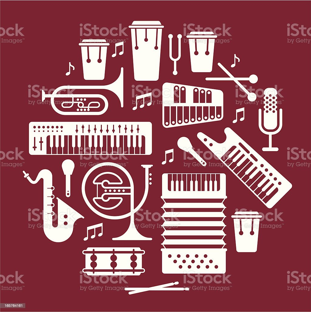 Music instrumants royalty-free stock vector art