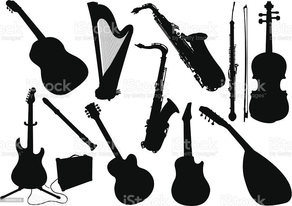 Music instrument royalty-free stock vector art