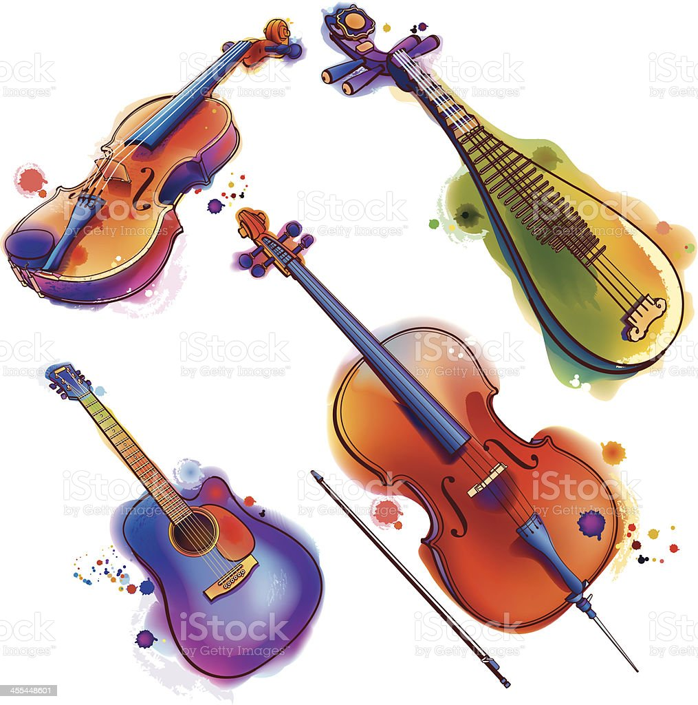 Music Instrument vector art illustration